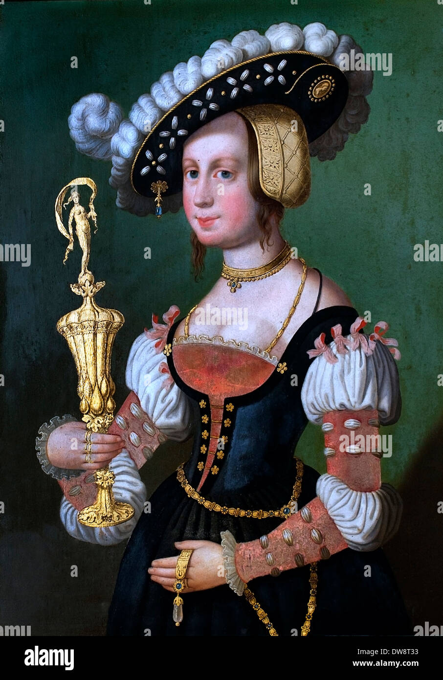 Dame mit Kelch - Lady with Chalice 16 century German Germany - Stock Image