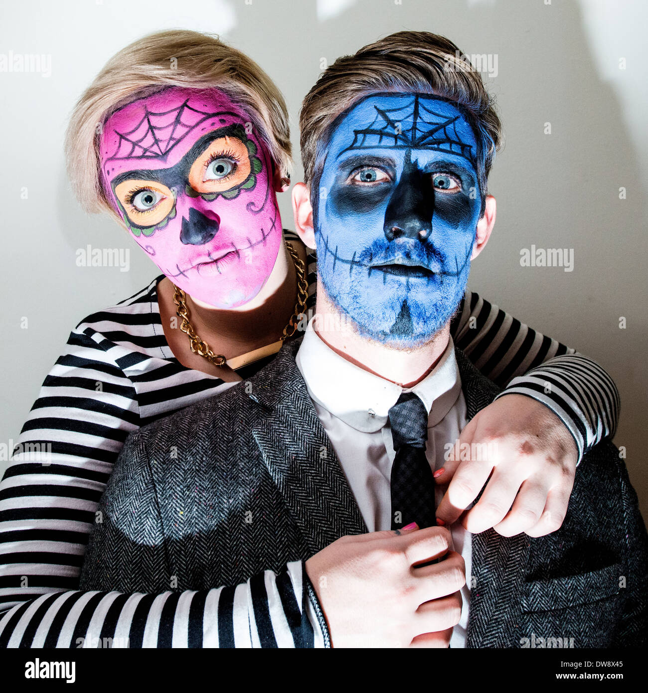 Paint On Hands And Face High Resolution Stock Photography And Images Alamy