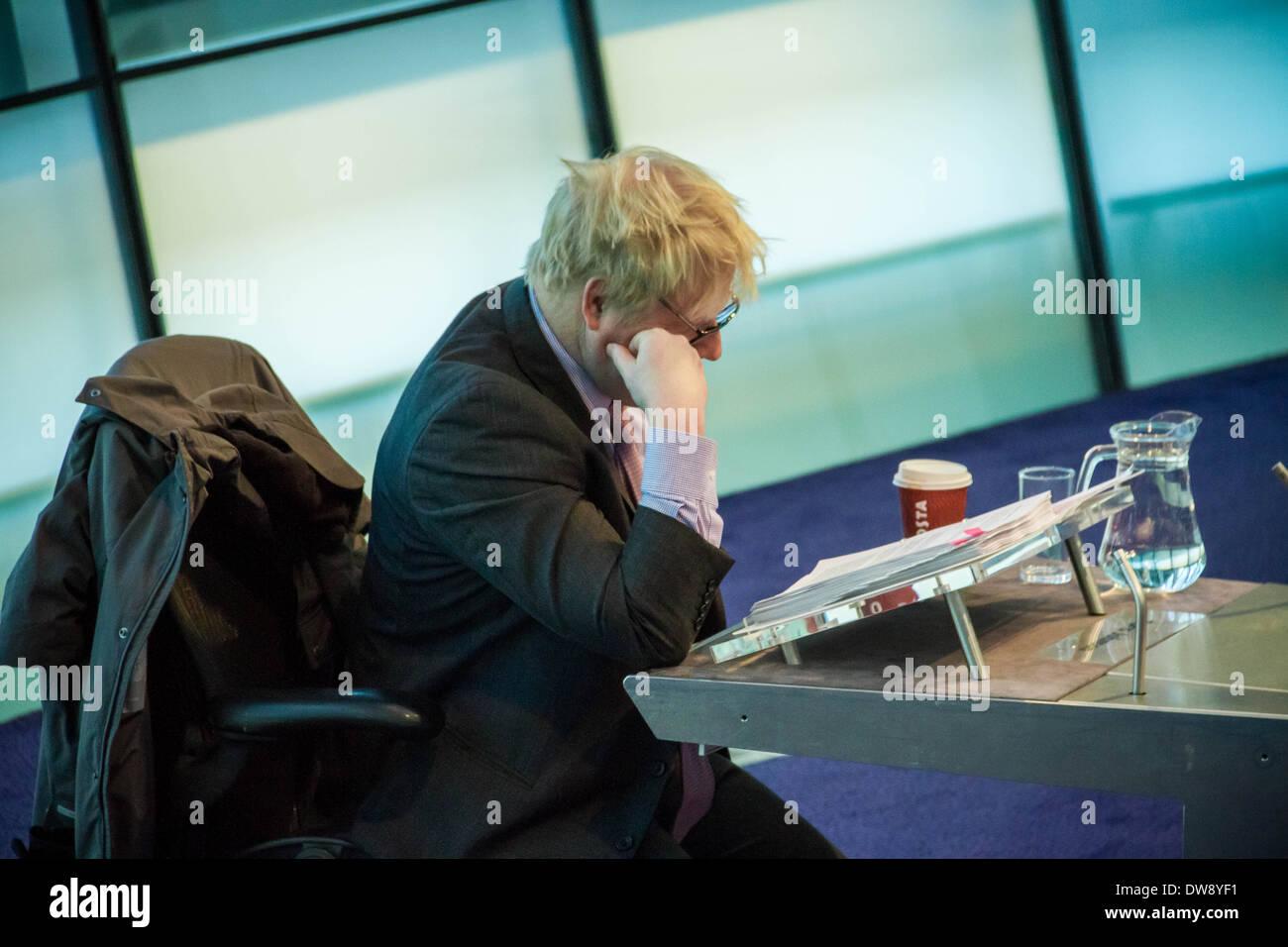 London Mayor Boris Johnson Question Time at City Hall - Stock Image