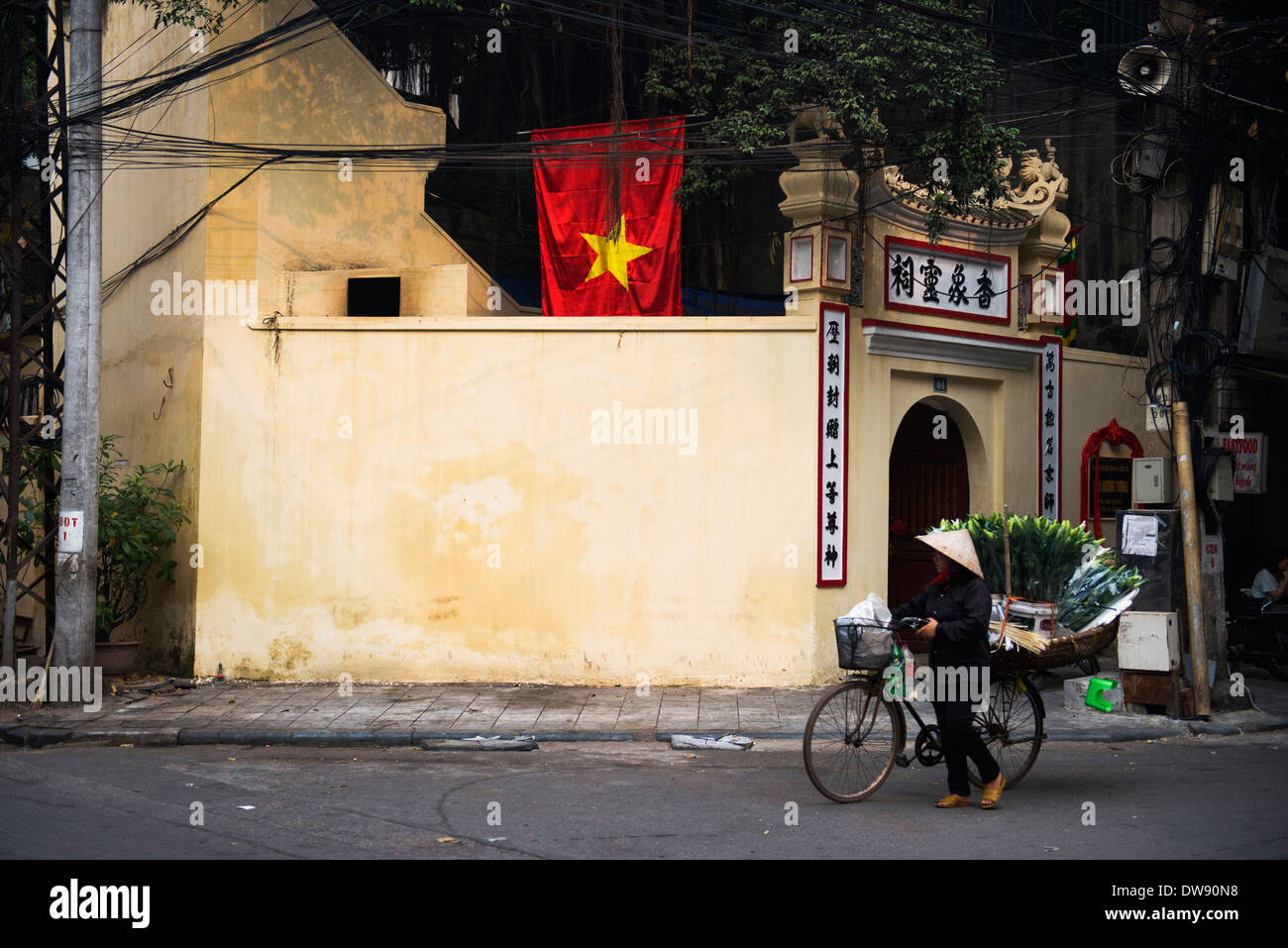 The colorful old quarter of Hanoi, Vietnam. - Stock Image