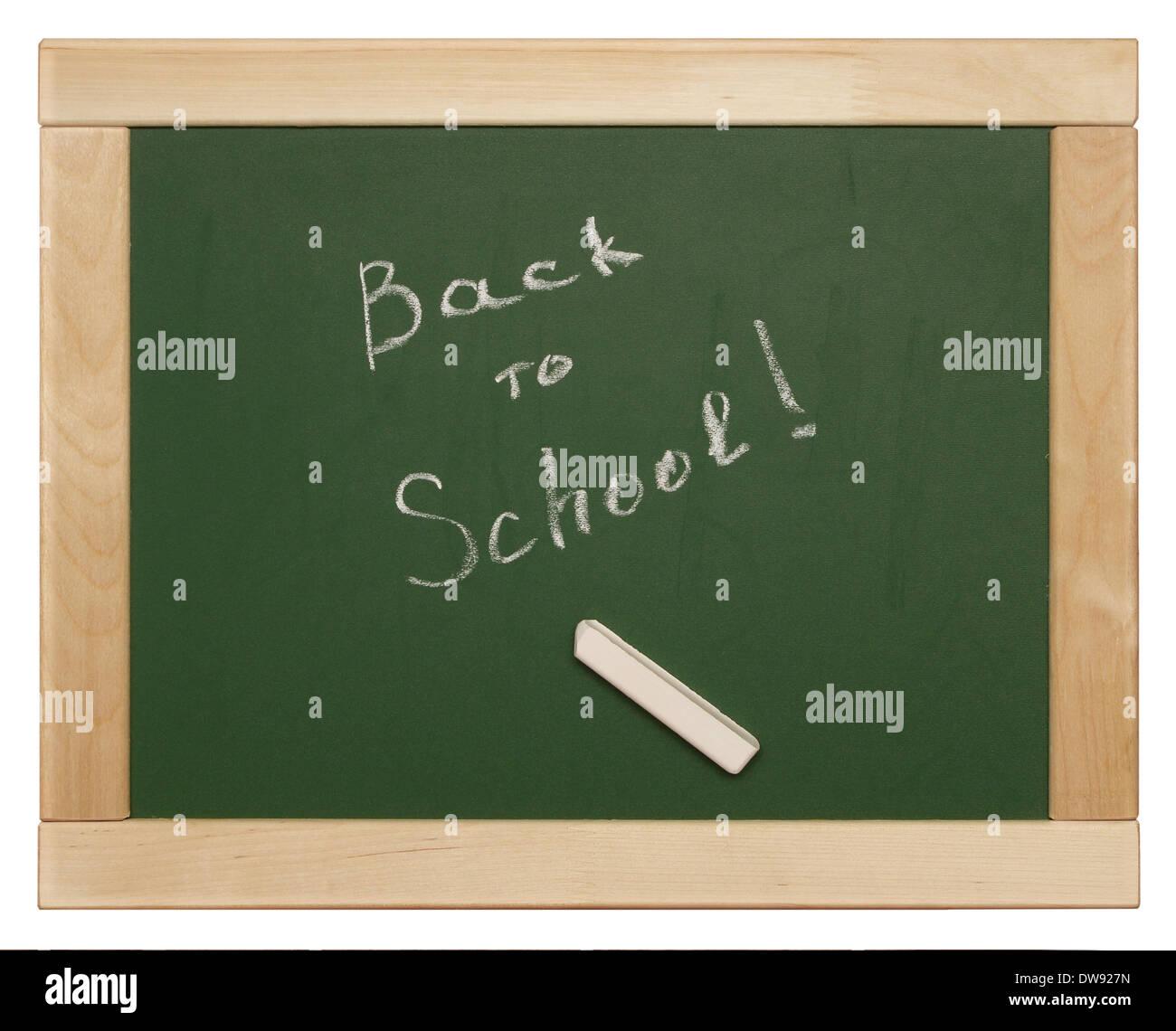 'back to school' written on blackboard - Stock Image