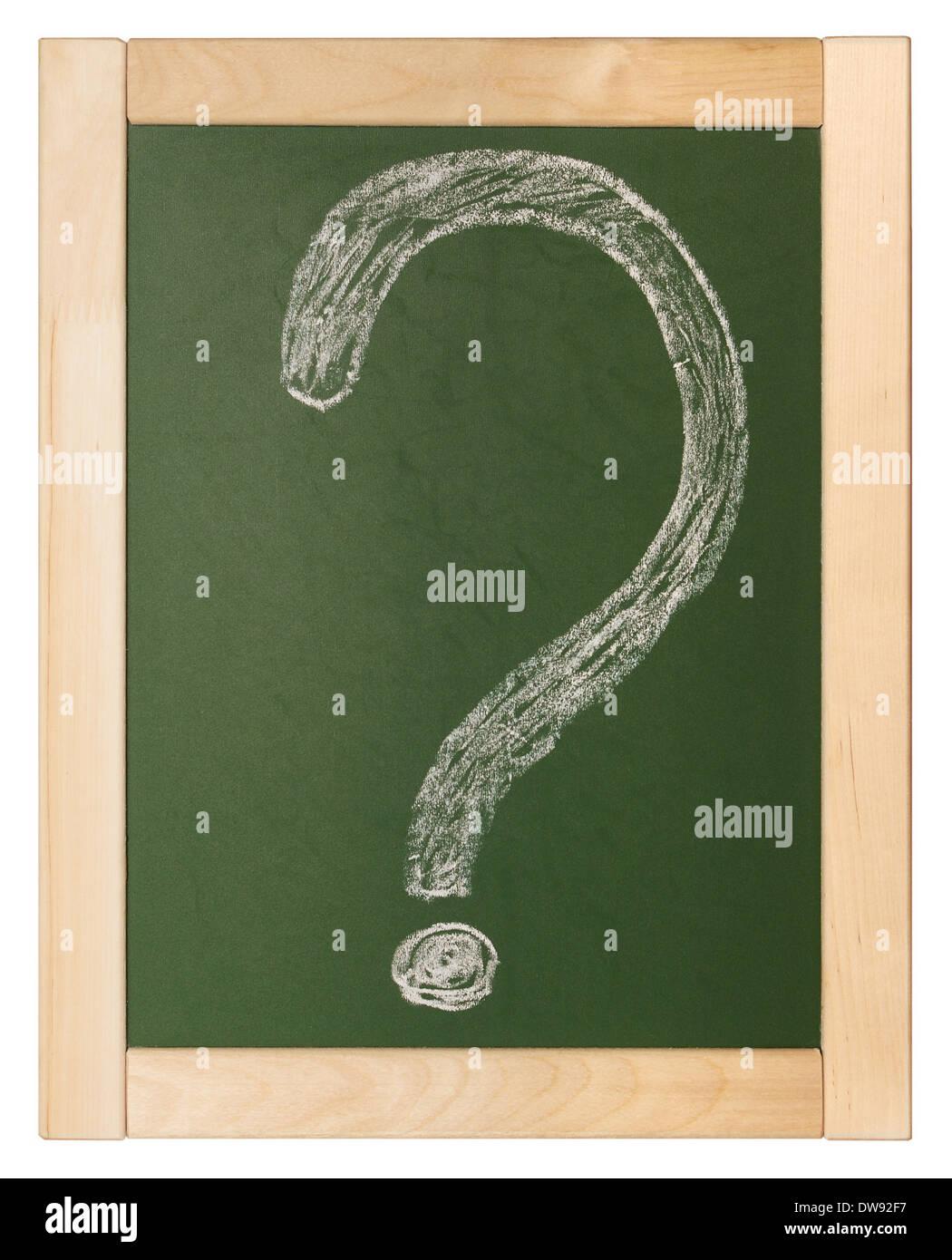 question written on blackboard Stock Photo
