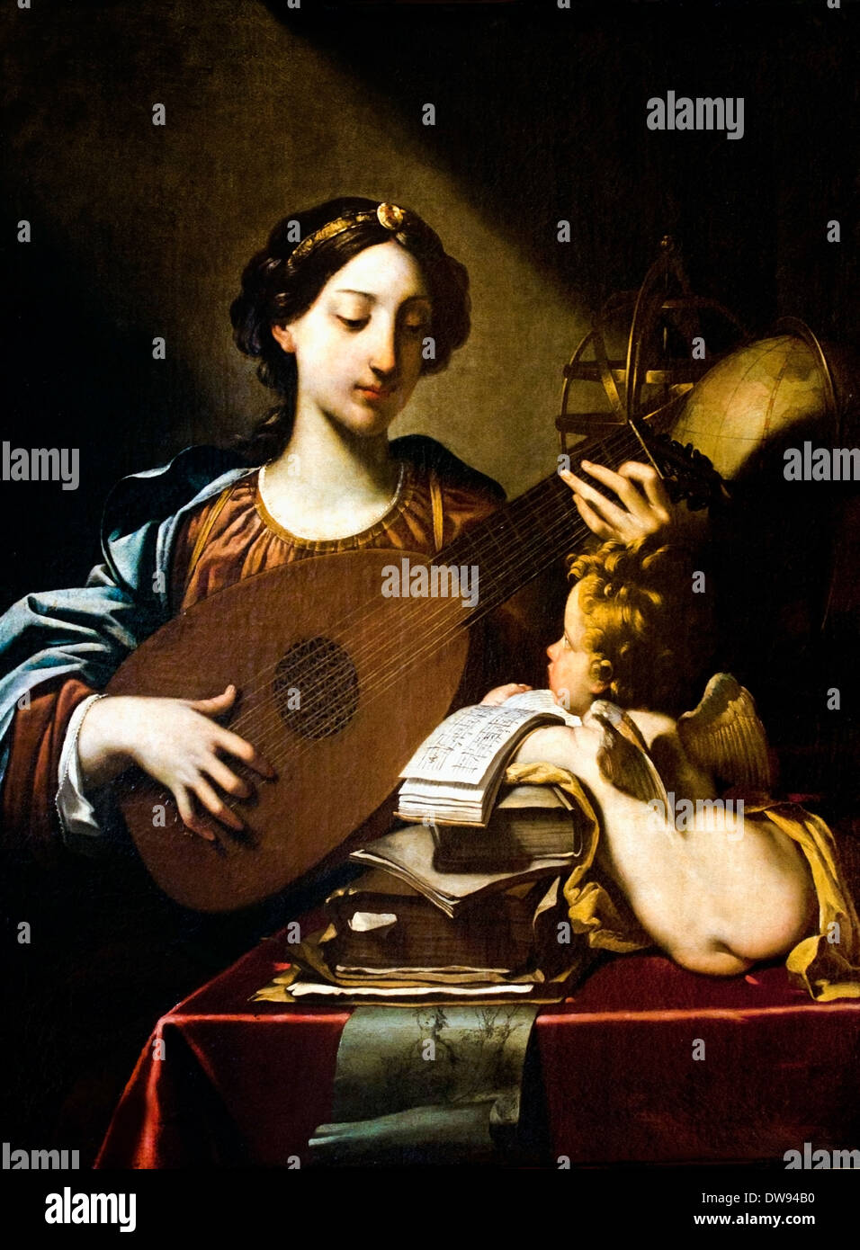 Allegory of Music 1625 Michele Desubleo (1601–1676)  Dutch Netherlands  France French - Stock Image