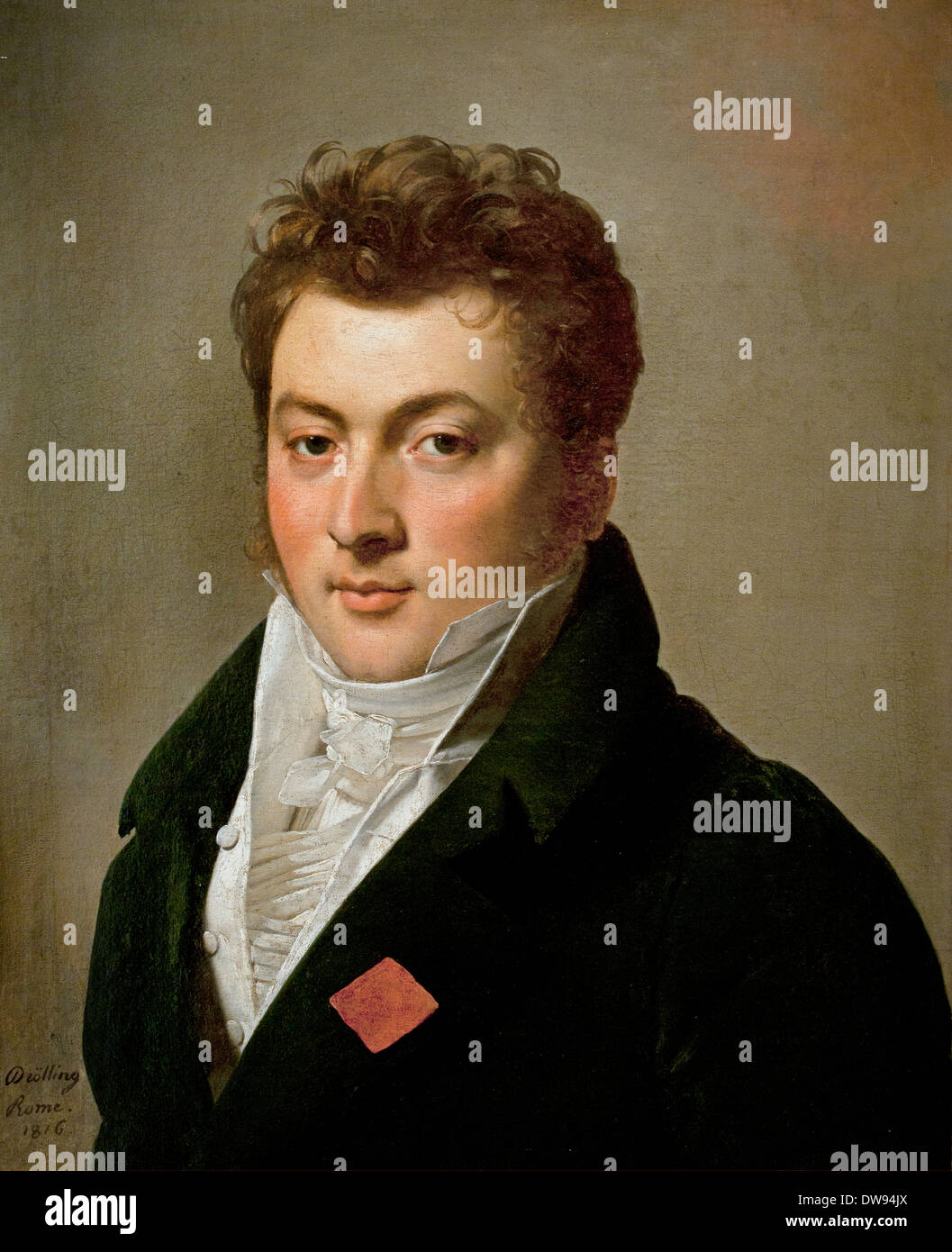 Portrait of mister de Courcy, formerly intendant to Murat, king of Napoli 1816 Michel Martin Drolling (1789–1851) France French - Stock Image