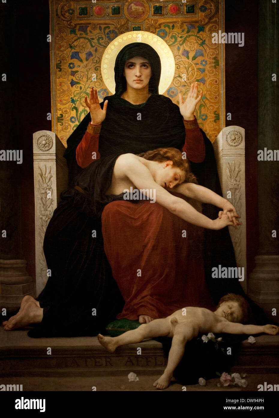 Consoler Virgin - Virgin consoling 1877  William Adolphe Bouguereau (1825-1905)  France French - Stock Image