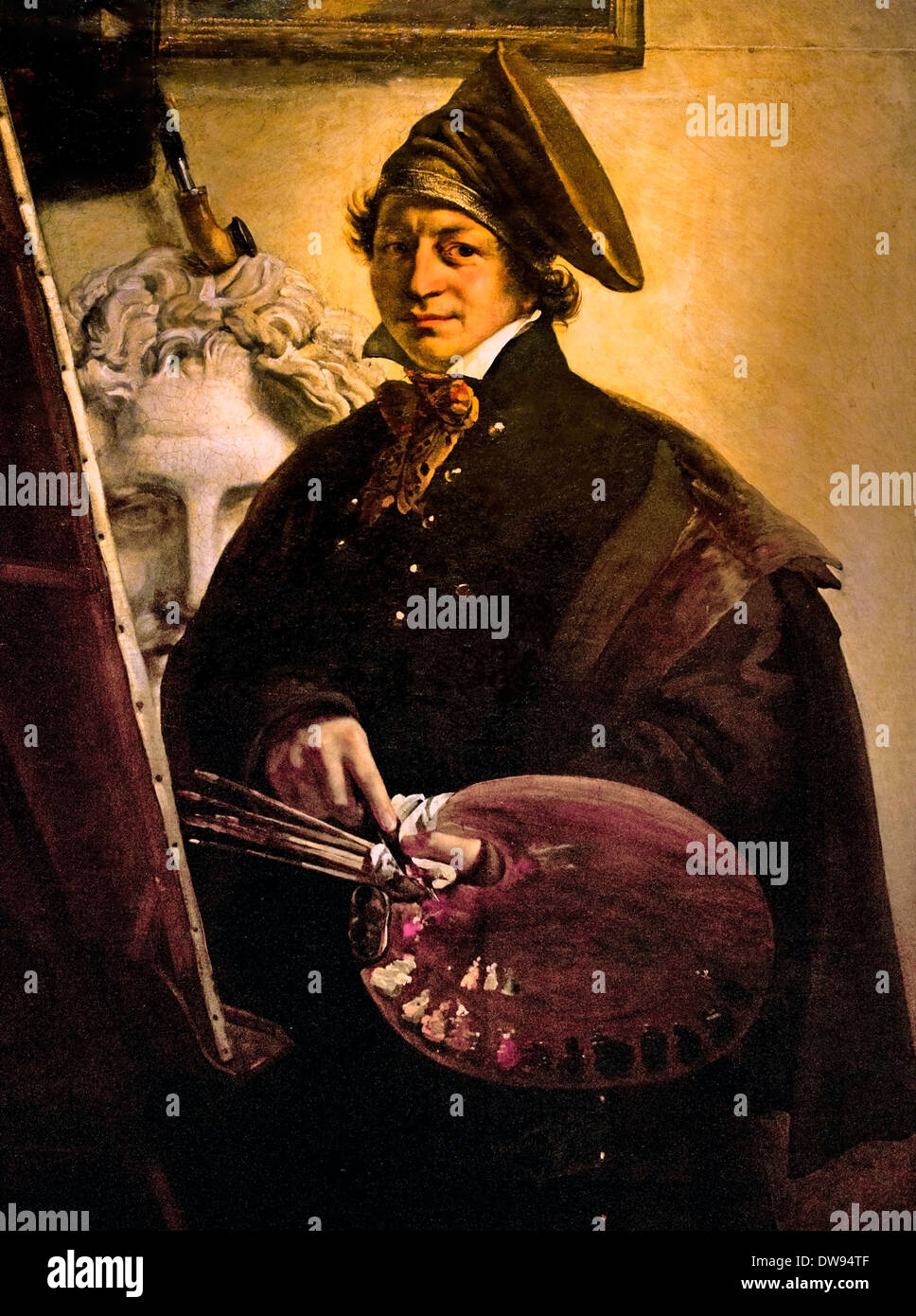 Self Portrait 1825 Stefan Falinski 19 Century  Polish Poland - Stock Image