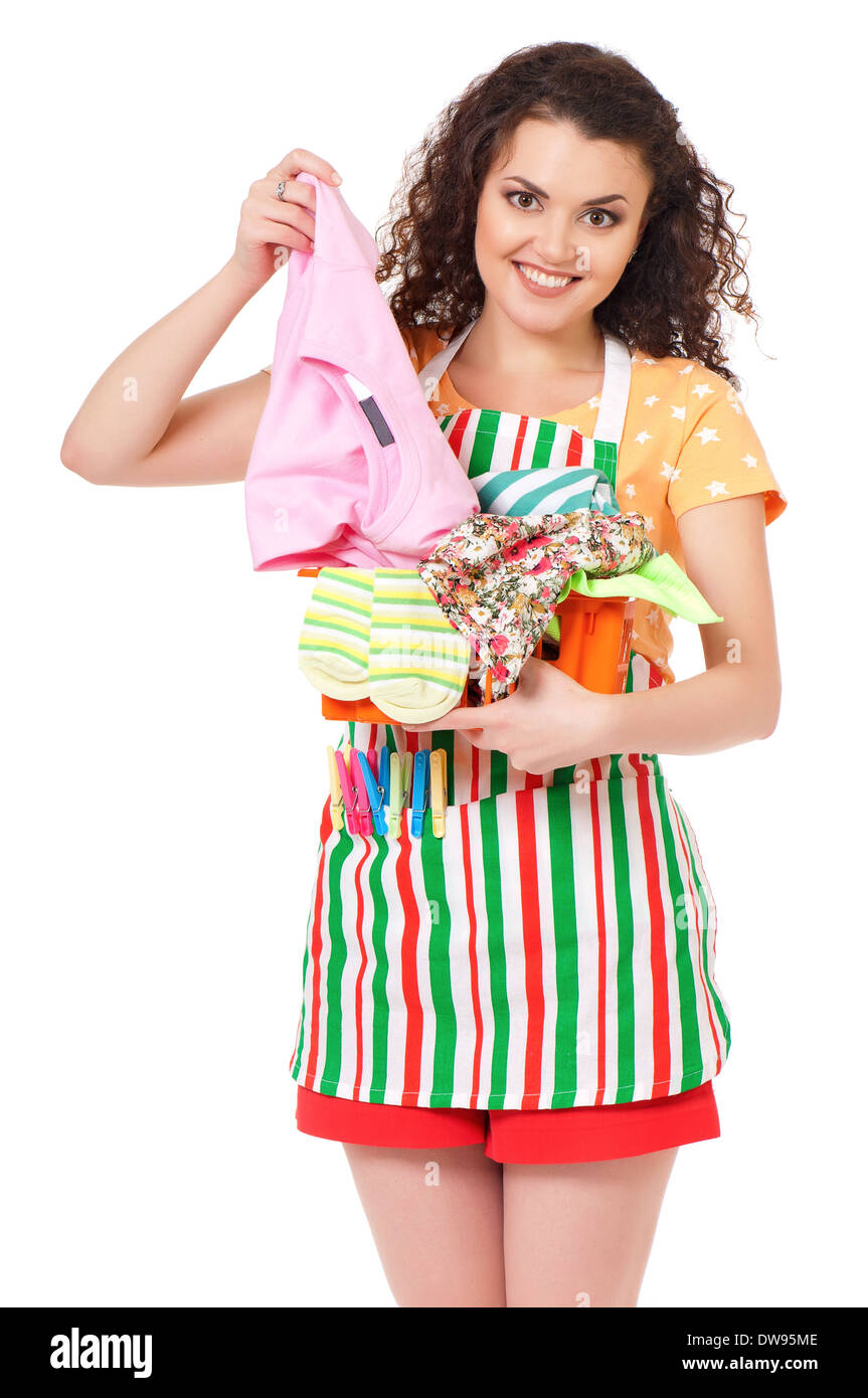 Young housewife - Stock Image