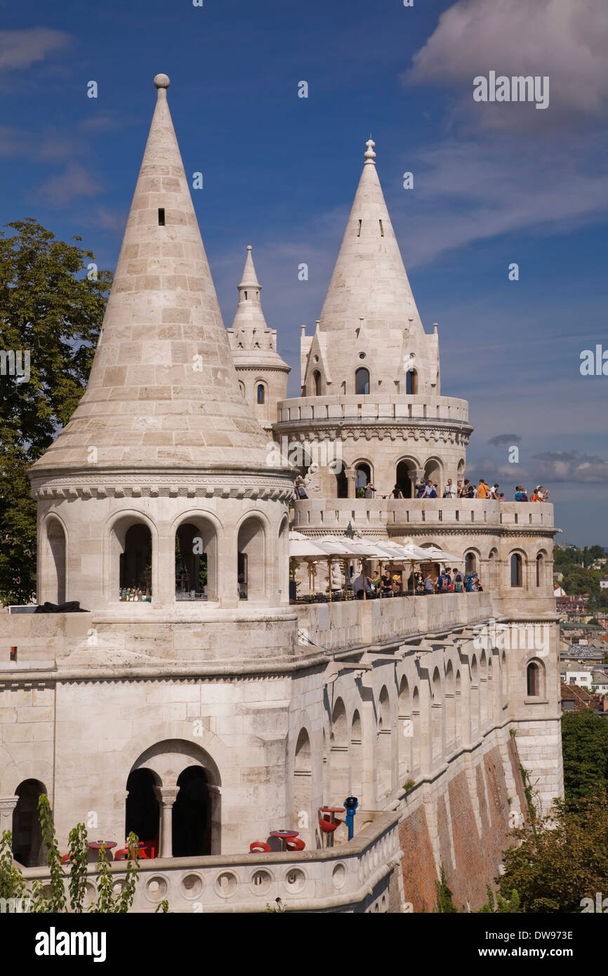 Fisherman's Bastion, Castle district, Budapest, Hungary Stock Photo