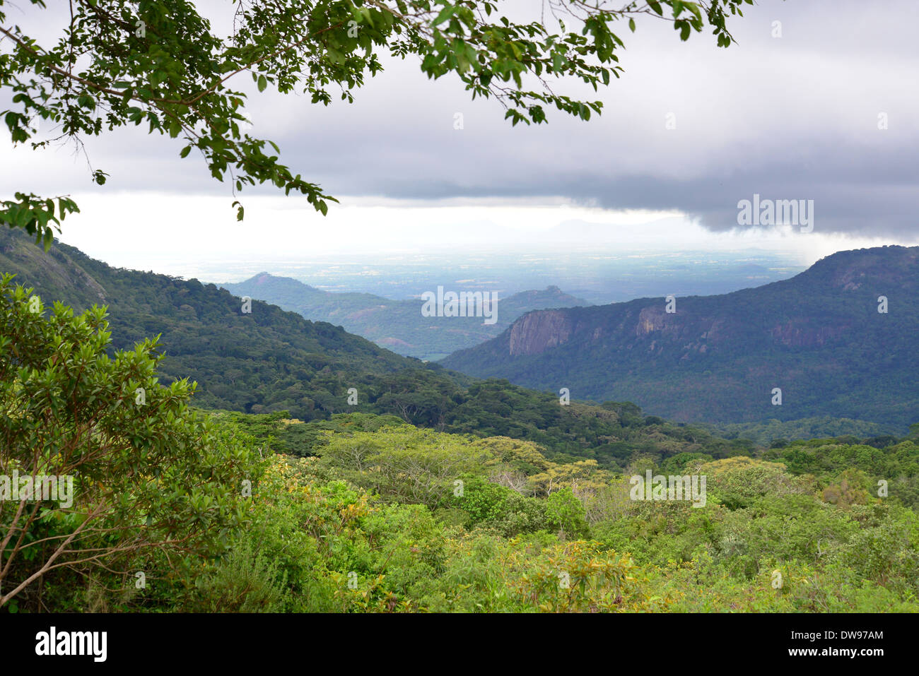 View into Mozambique from Leopard Rock, Zimbabwe in Central Africa. - Stock Image