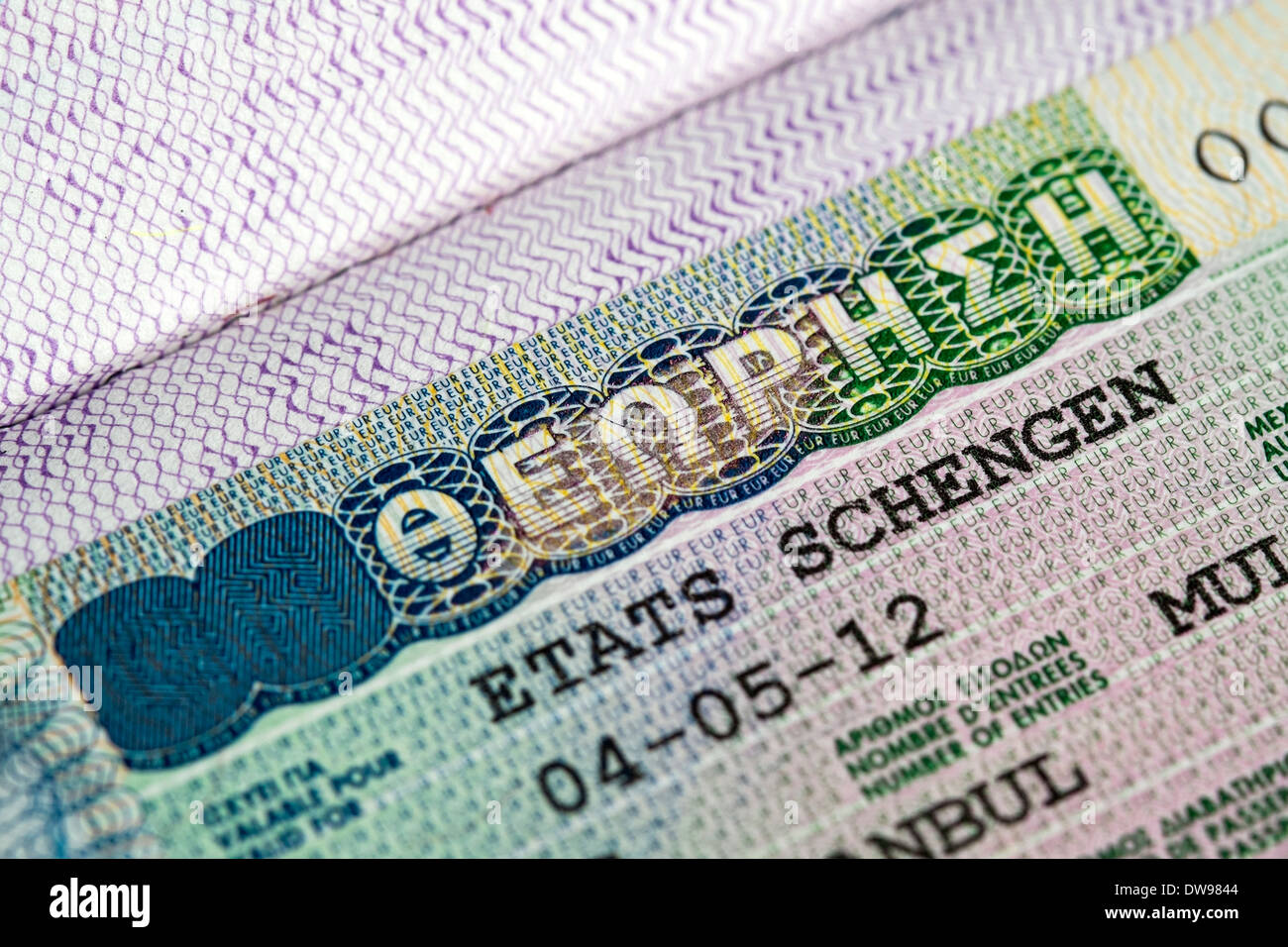 Visa Passport High Resolution Stock Photography And Images Alamy