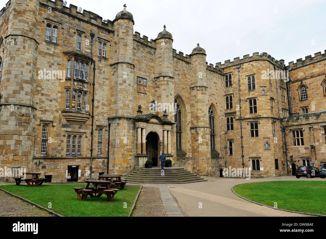 Courtyard of Durham Castle (University College Durham) County Durham, England - Stock Image