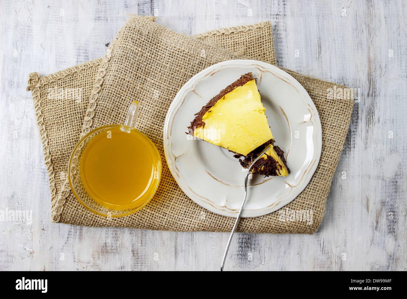 Birthday Party Table Setting Vanilla And Chocolate Layer CakeBirthday Cake