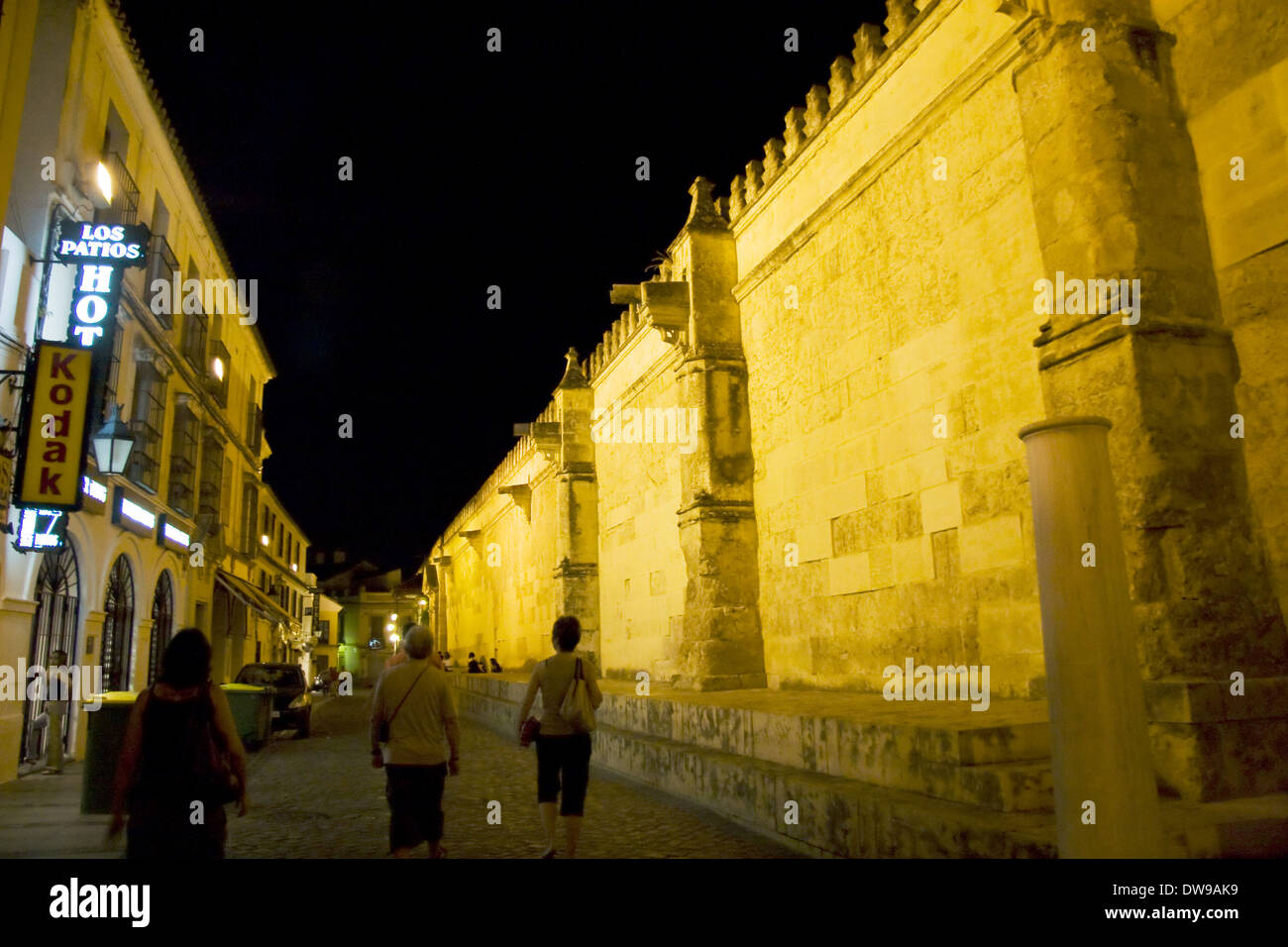 Cardenal Herrero street and Great Mosque, Cordoba - Stock Image