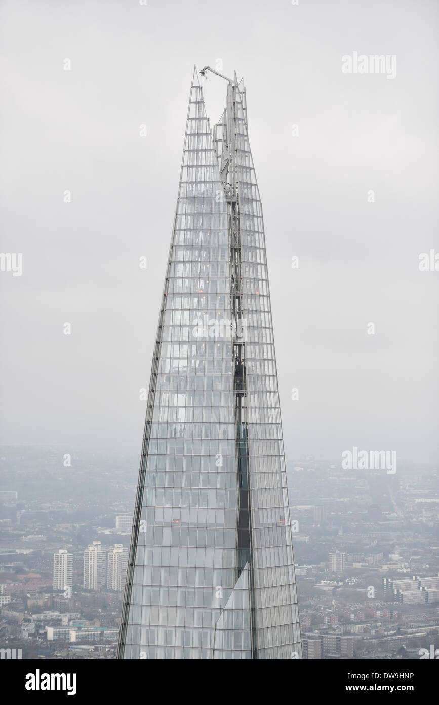 Aerial Photograph showing The Shard in London, United Kingdom - Stock Image