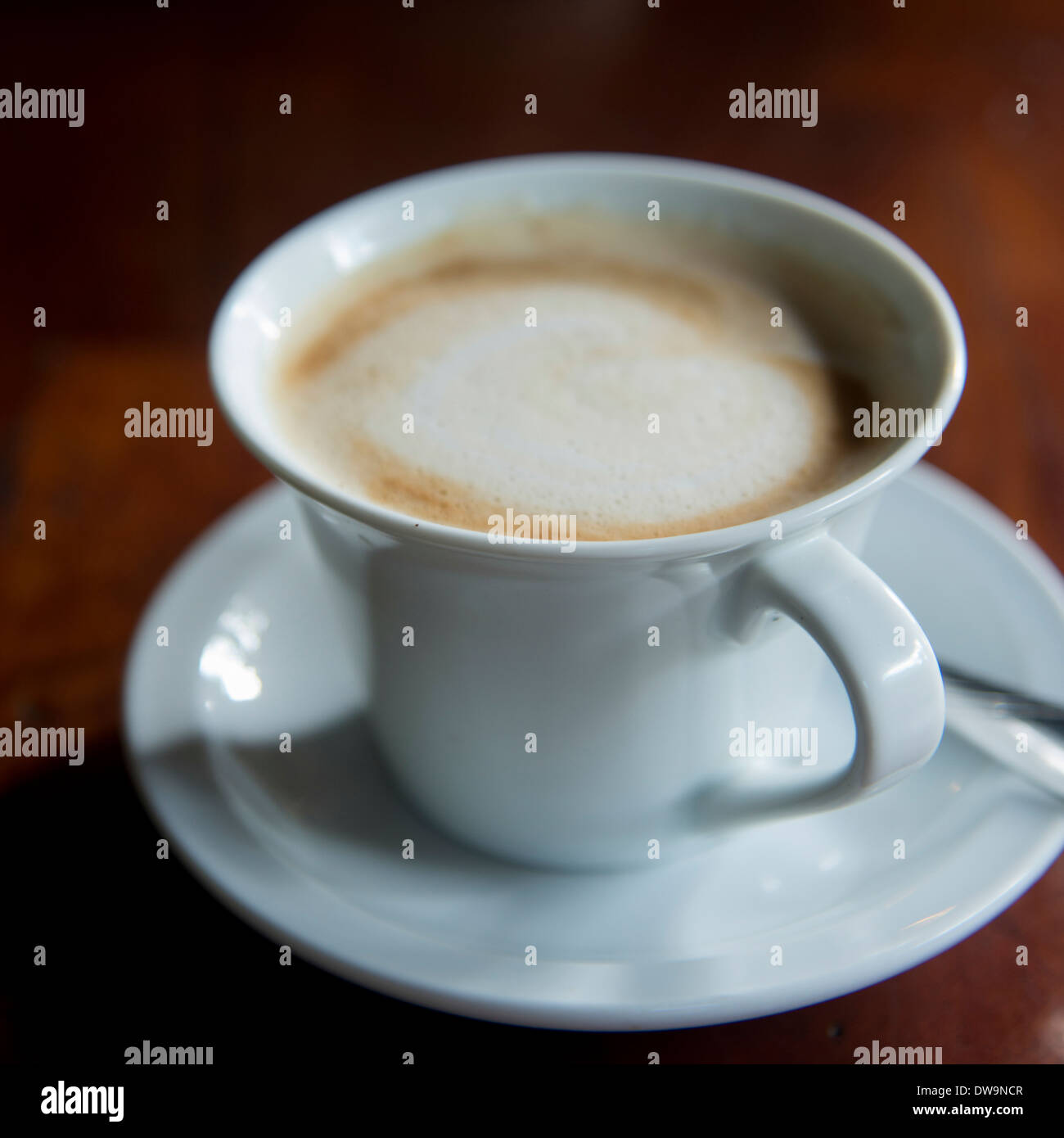 Cup of coffee Finca Santa Isabel Copan Ruinas Honduras - Stock Image