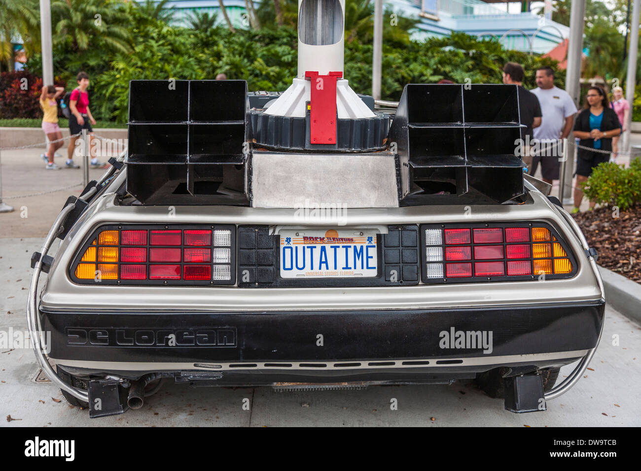 License Plate On Car From Back To The Future Movies Reads