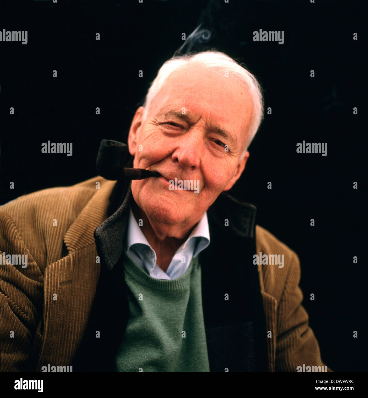 Portrait of Labour MP Tony Benn (Anthony Wedgwood Benn) smoking his pipe at  the 873f169400db
