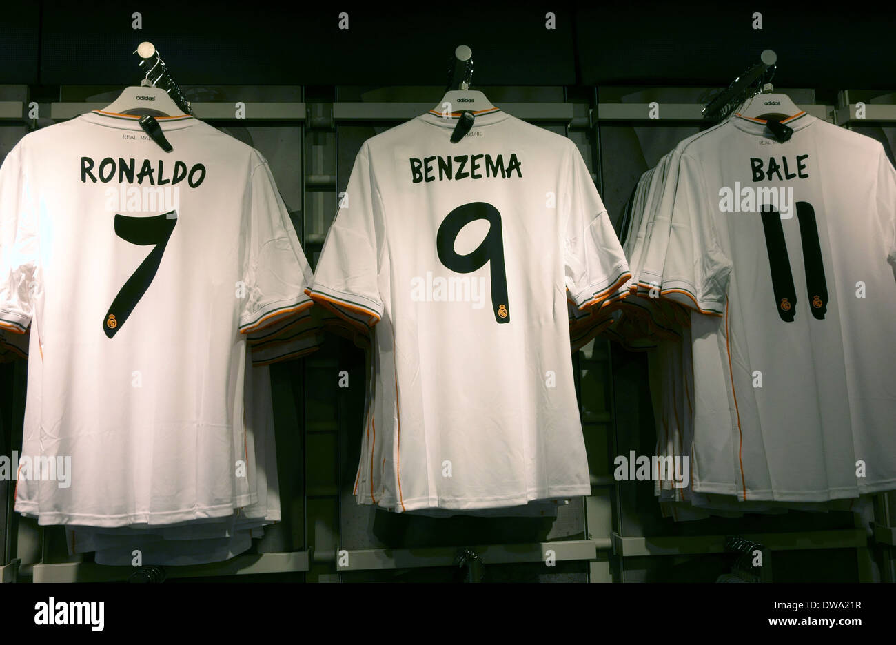 b0896e7eb Replica shirts on sale in official shop in Real Madrid s Bernabeu Stadium