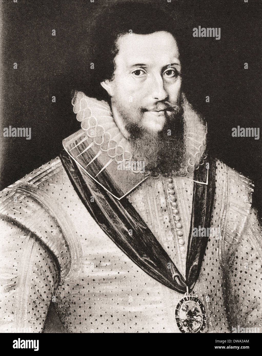 Robert Devereux, 2nd Earl of Essex, 1565- 1601. English nobleman and a favourite of Elizabeth I. After a contemporary work. - Stock Image