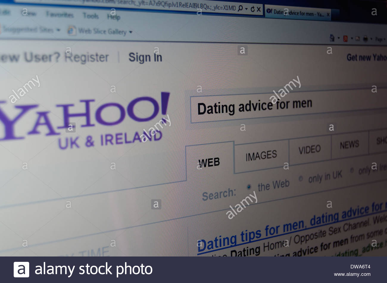 Yahoo dating tips