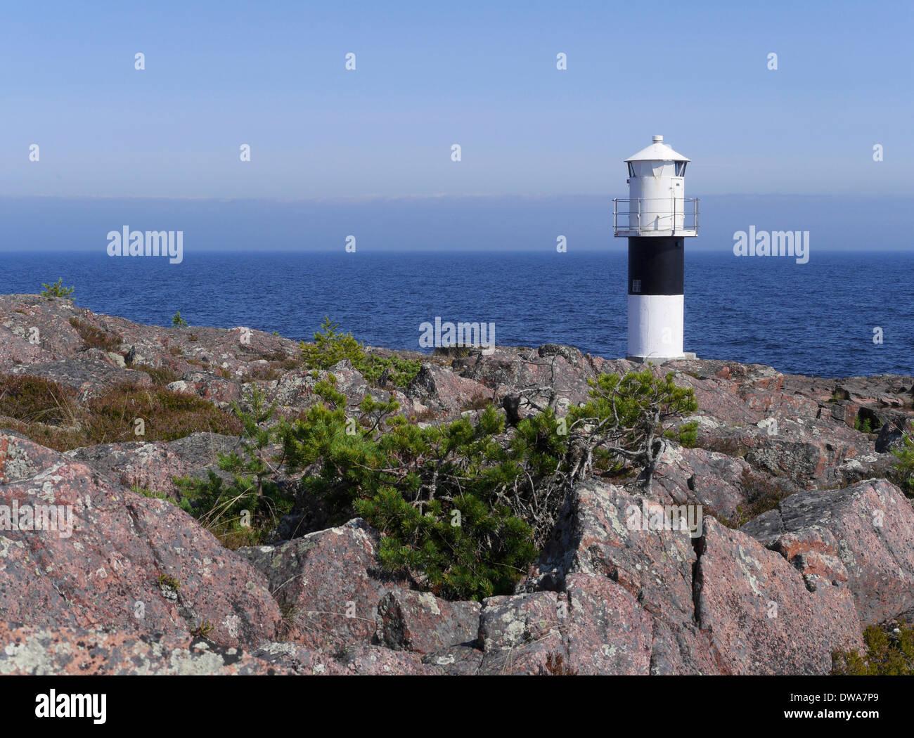 ytternäsen fyr, höga kusten, västernorrlands län, bottnischer meerbusen, schweden - Stock Image