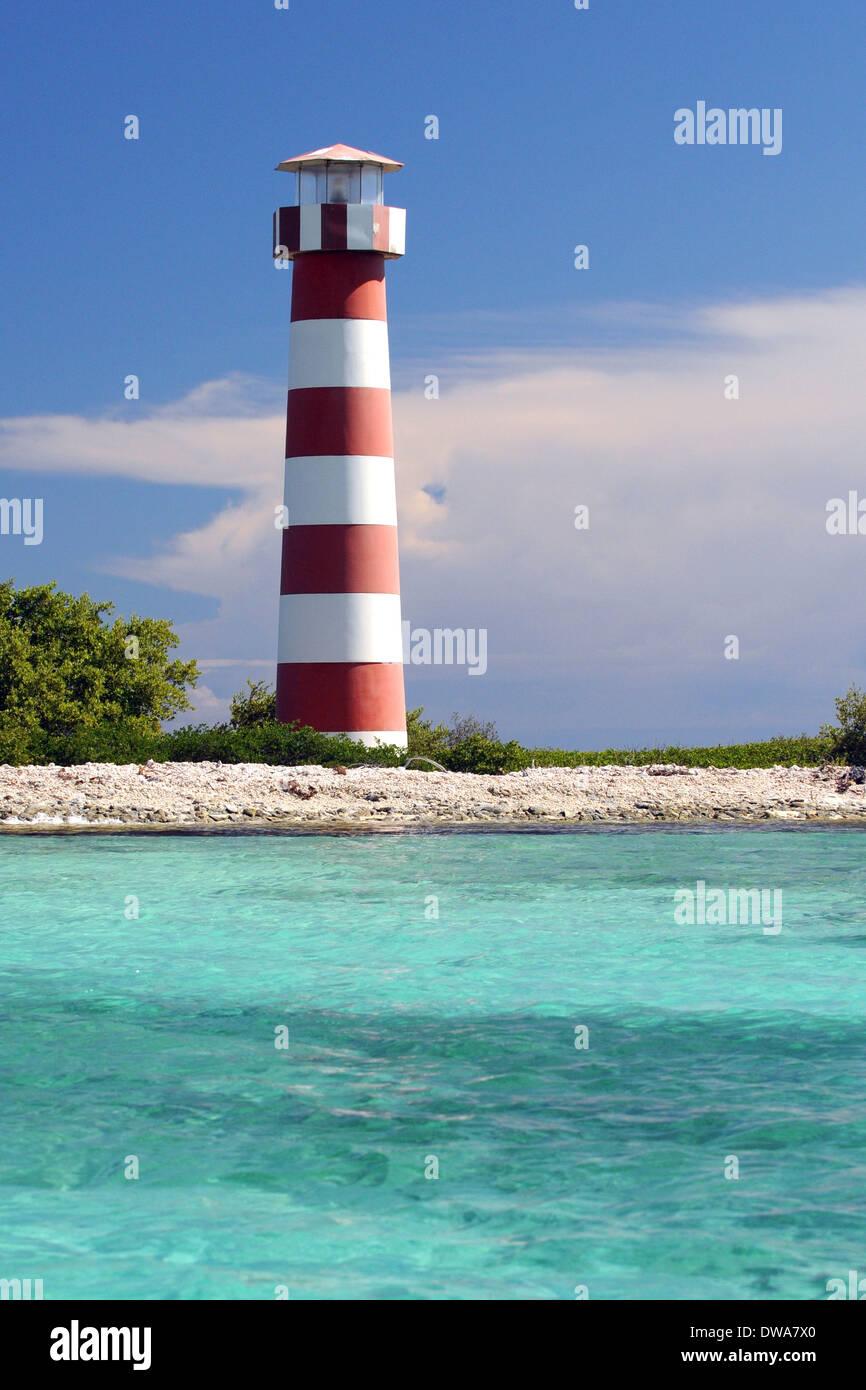 Lighthouse of Sebastopol, Sebastopol island, Archipelago Los Roques National Park, Venezuela - Stock Image