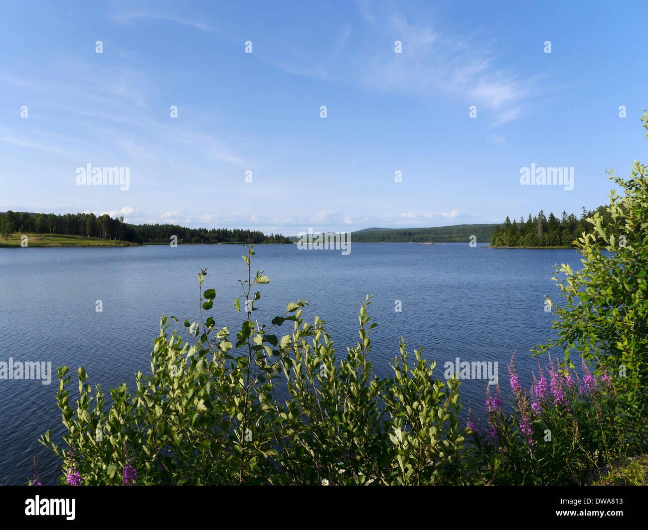 lustholmen, höga kusten (high coast), västernorrlands län, gulf of bothnia, sweden - Stock Image