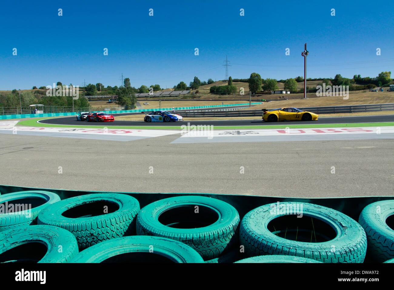GT Open race on Hungaroring in September 2012 - Stock Image