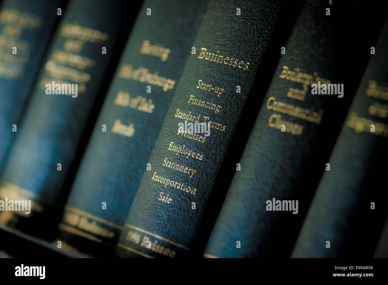 Legal reference books on corporate law for business - Stock Image