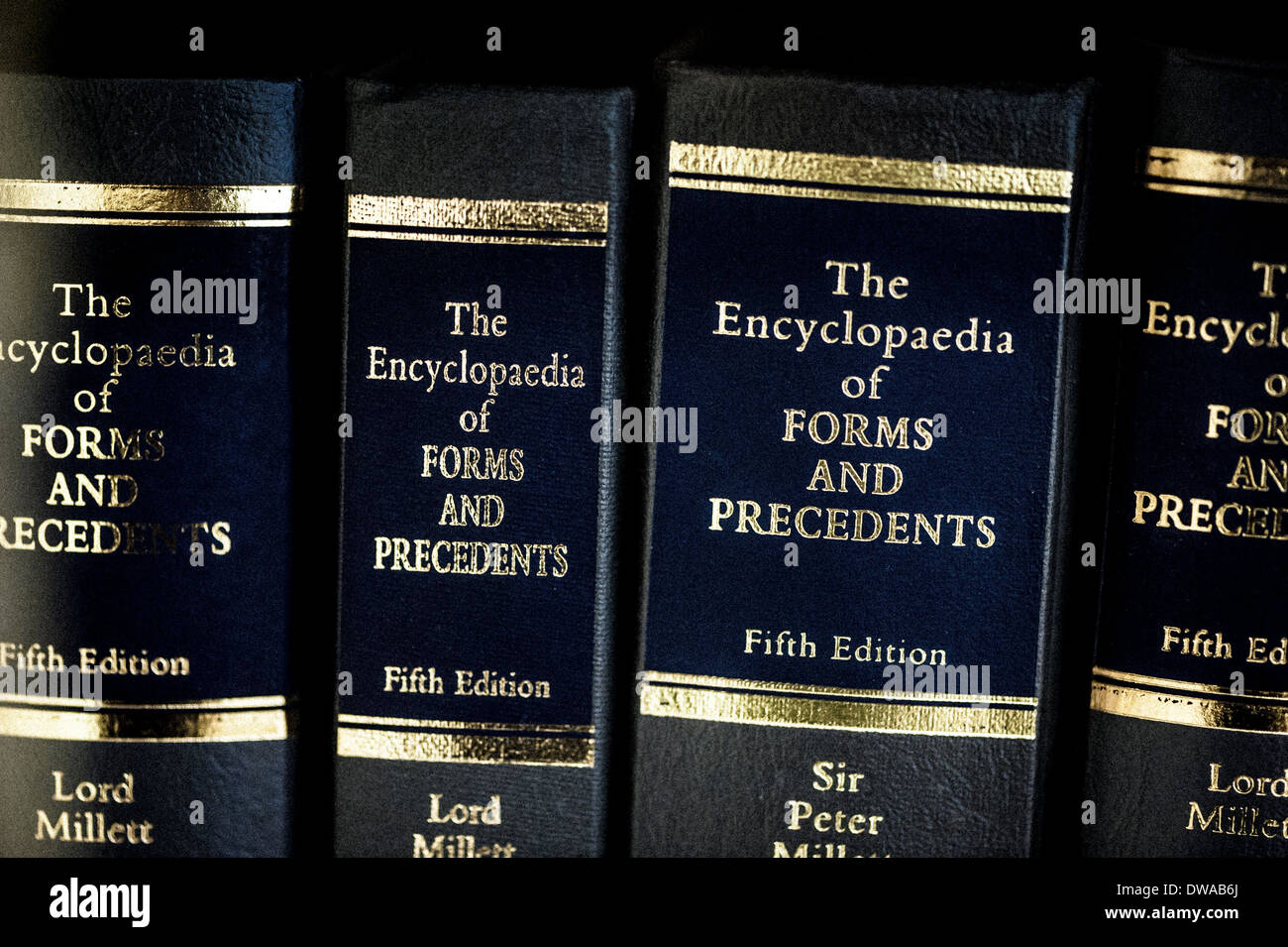 Encyclopaedias of forms and precedents - Stock Image