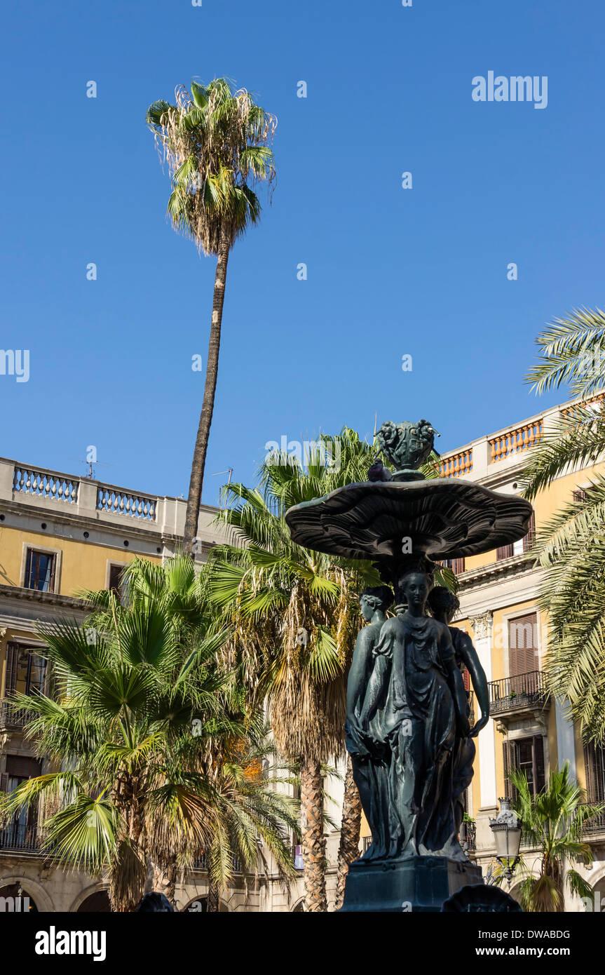 Placa Reial, Barri Gotic, Barcelona - Stock Image