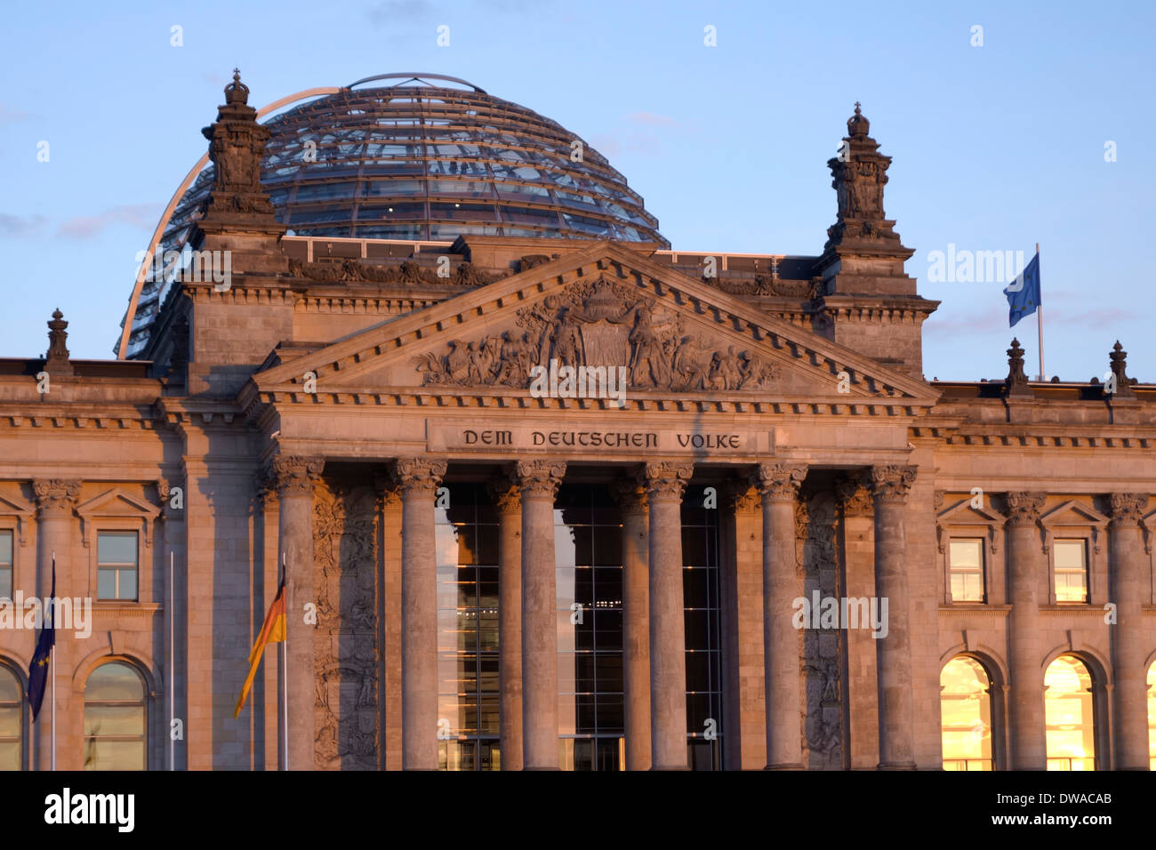 Reichstag building , Berlin, - Stock Image