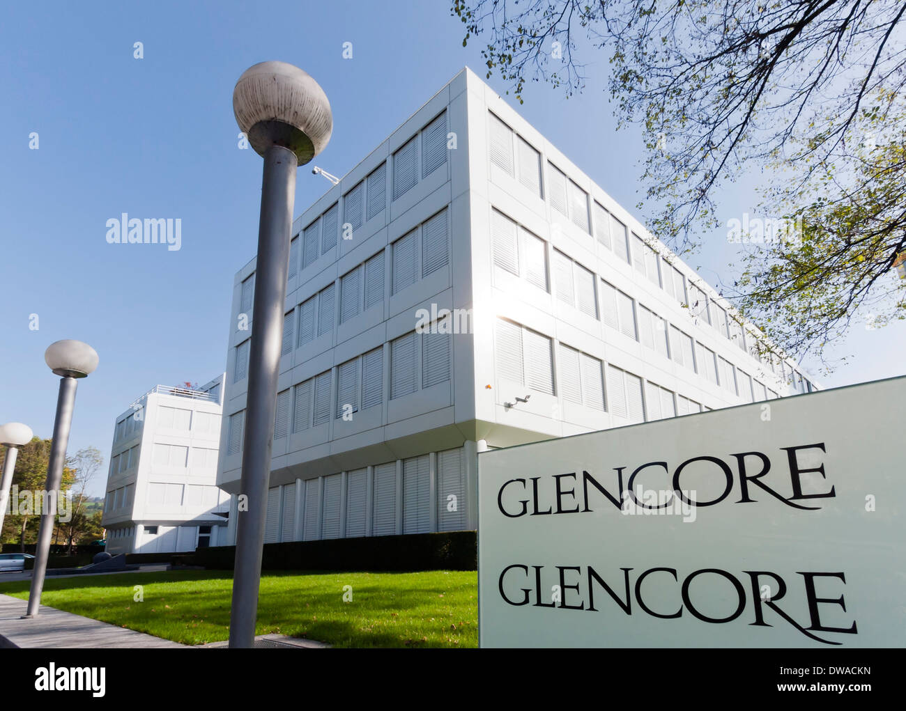 Entrance and company headquarters of Glencore Xstrata, the world's Stock  Photo - Alamy