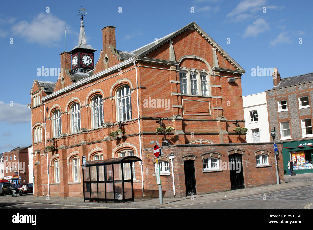 The Town Hall in Thame Oxfordshire. - Stock Image