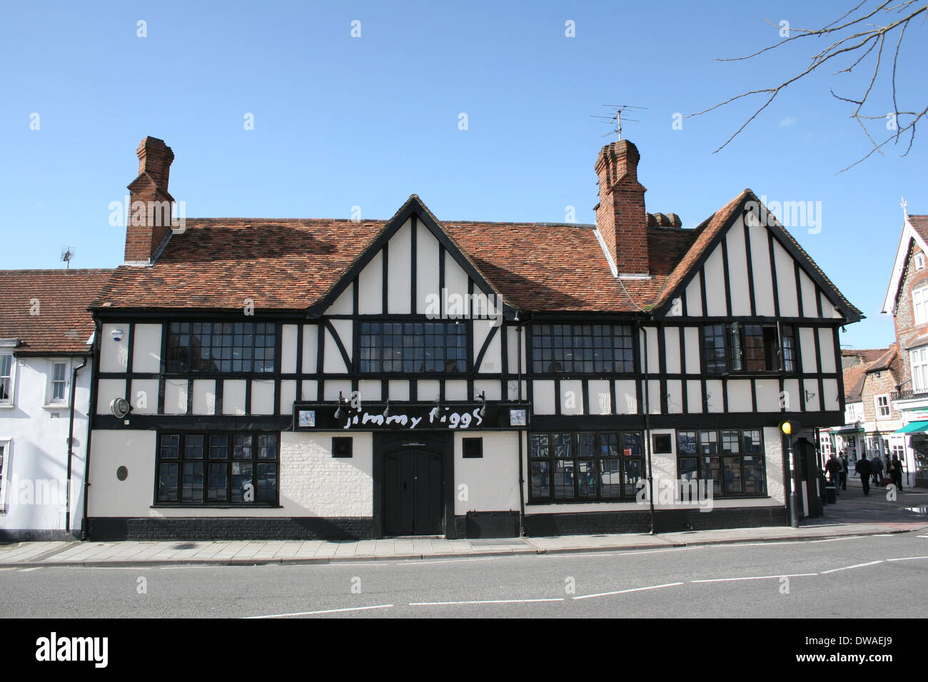 Jimmy Figgs Public House in Thame Oxfordshire. - Stock Image