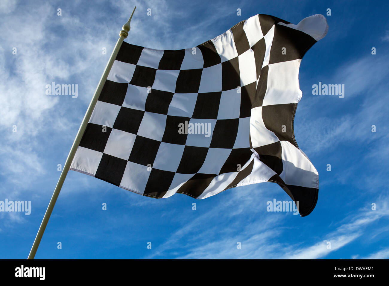 Chequered Flag - Winner. - Stock Image