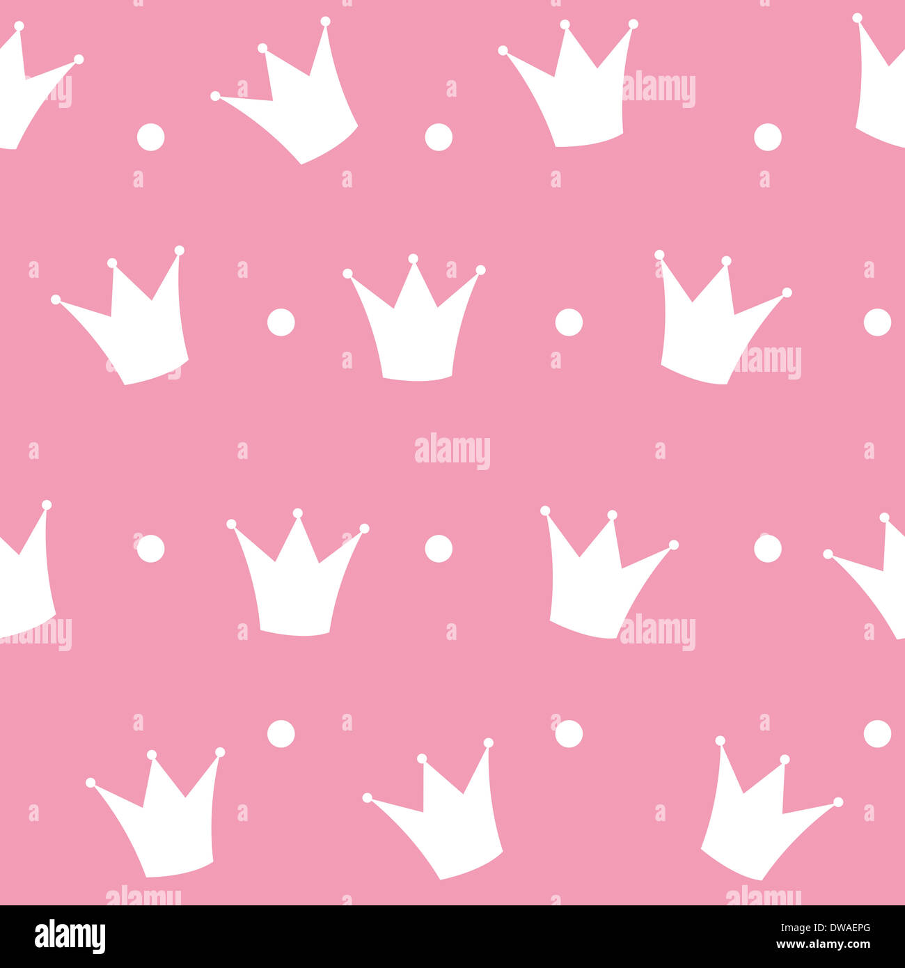 Princess Crown Seamless Pattern Background Vector Illustration Stock