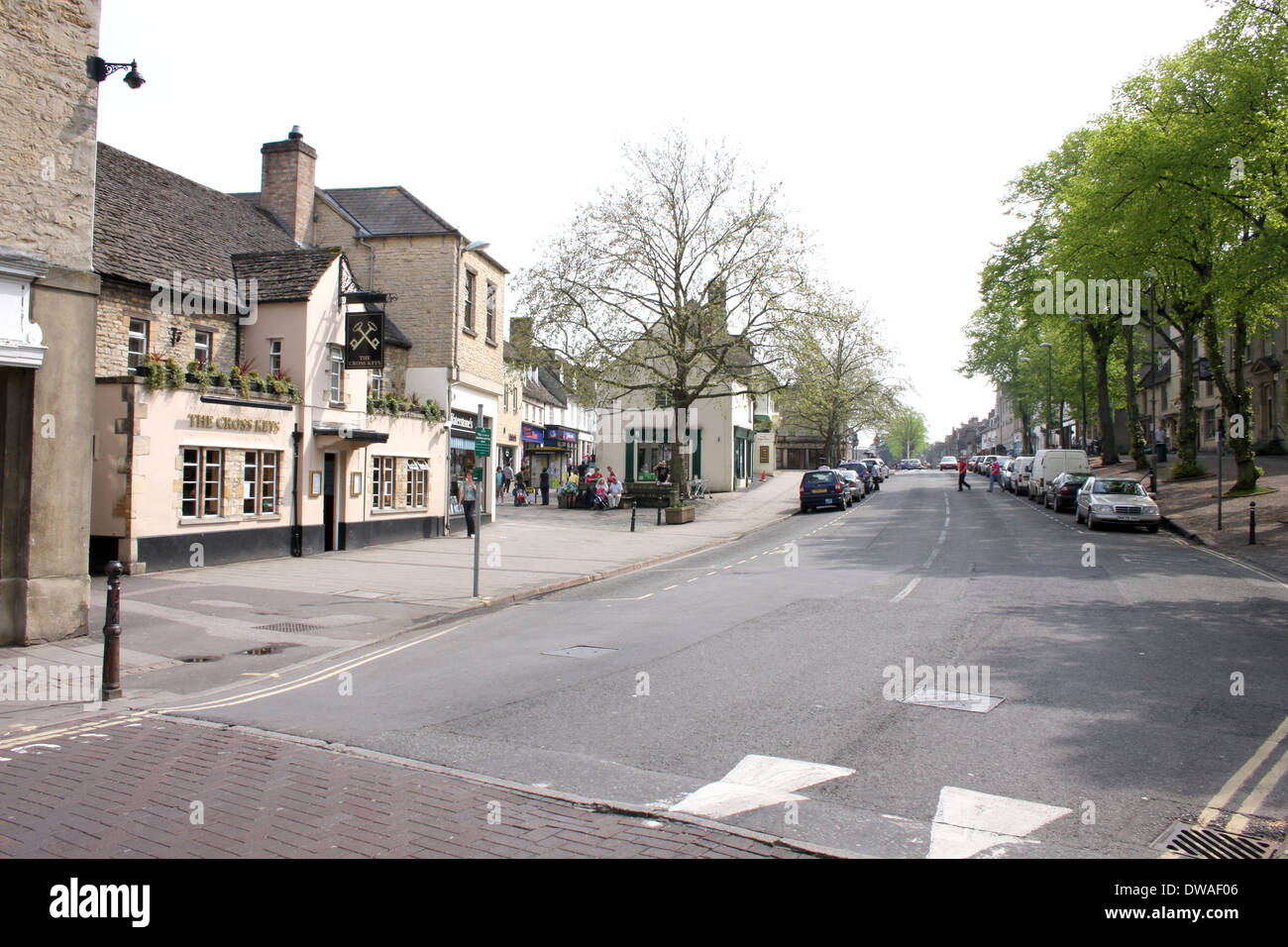 The High Street Witney Oxfordshire - Stock Image