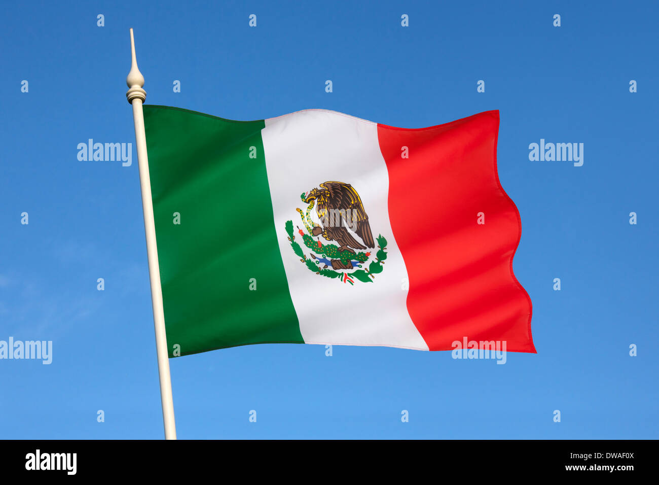 Flag of Mexico. - Stock Image