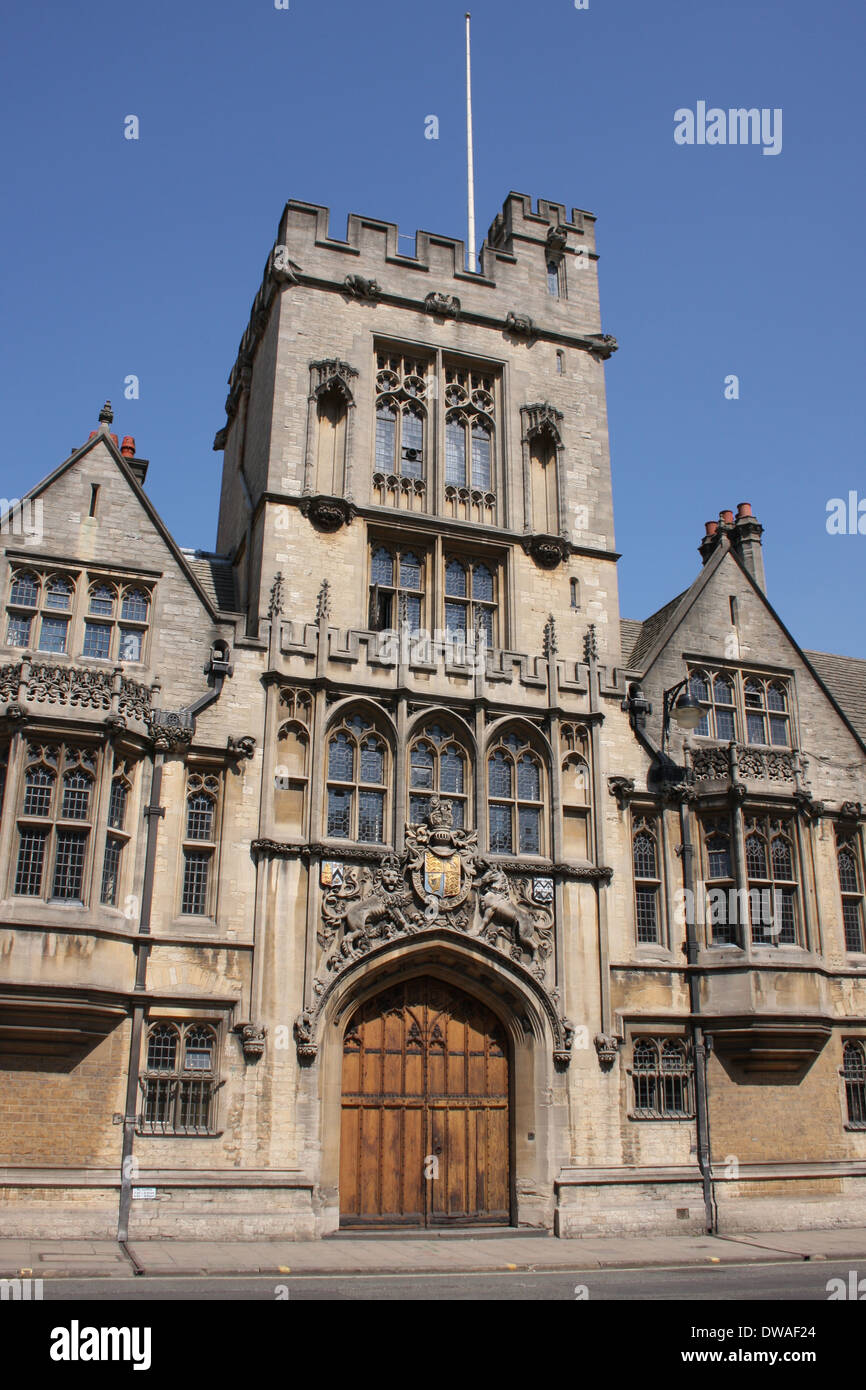 Brasenose College Oxford High Street UK - Stock Image