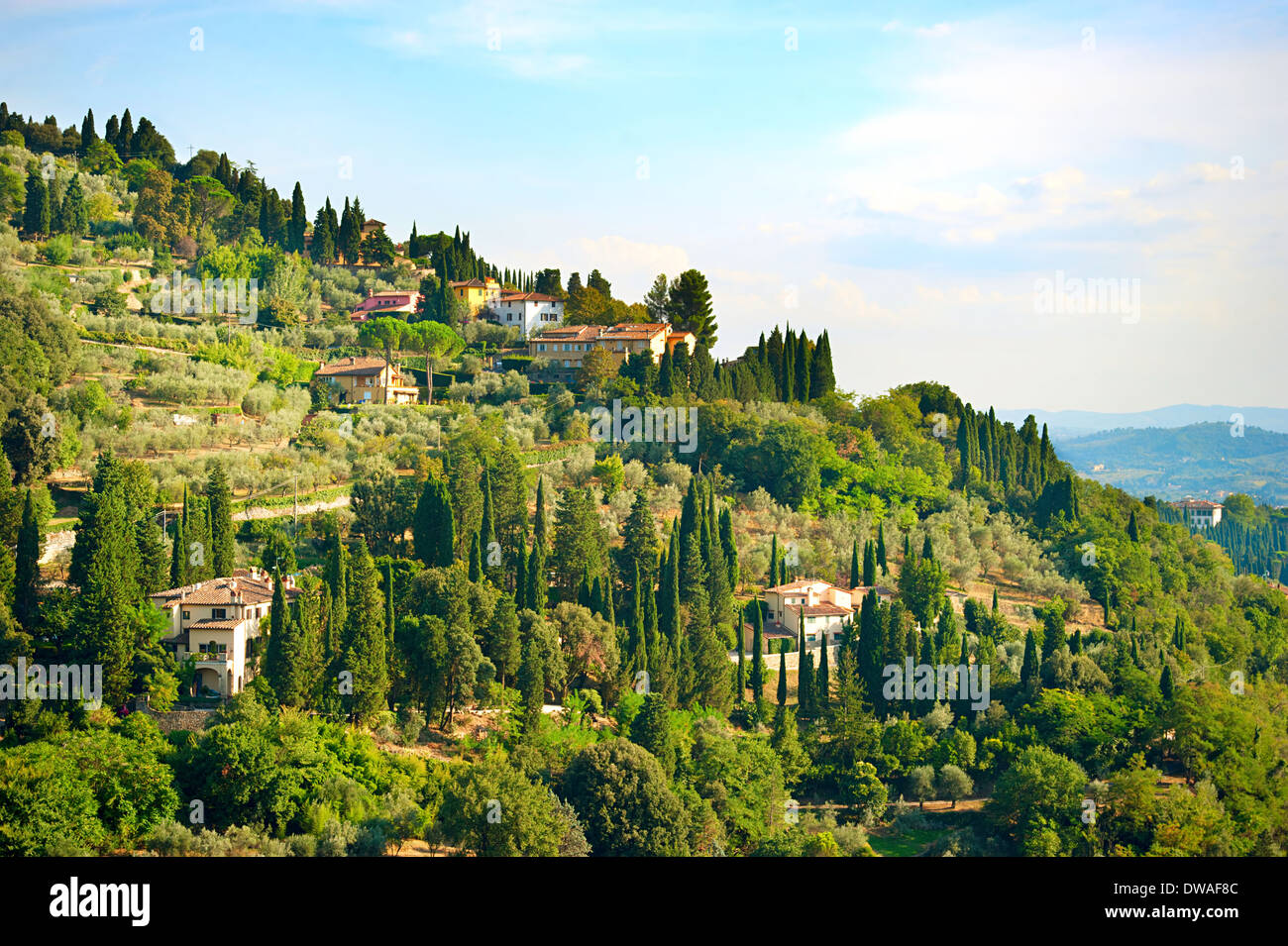 tuscany countryside near florence italy stock photos tuscany