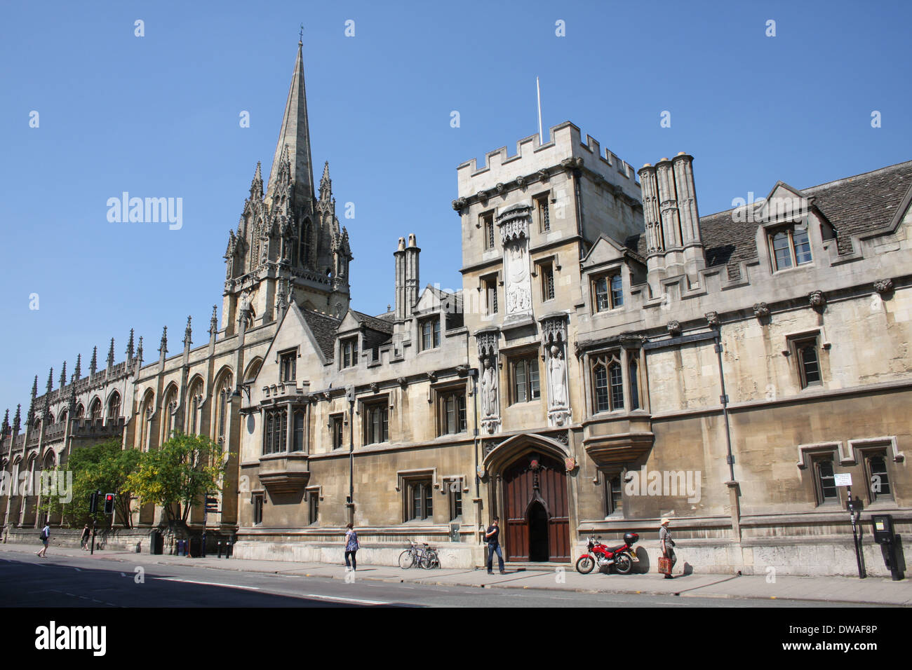 Brasenose College Oxford High Street UK. - Stock Image