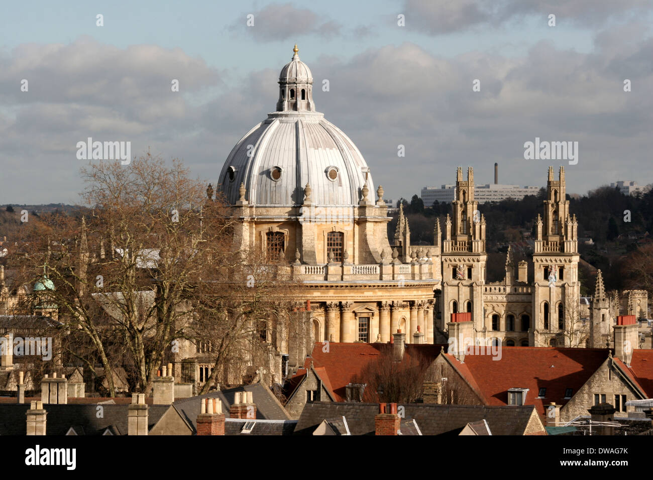 The View Of The Radcliffe Camera From Carfax Tower In Oxford Stock