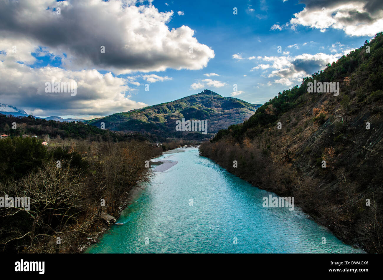 Arachthos river on Tzoumerka mountain - Stock Image