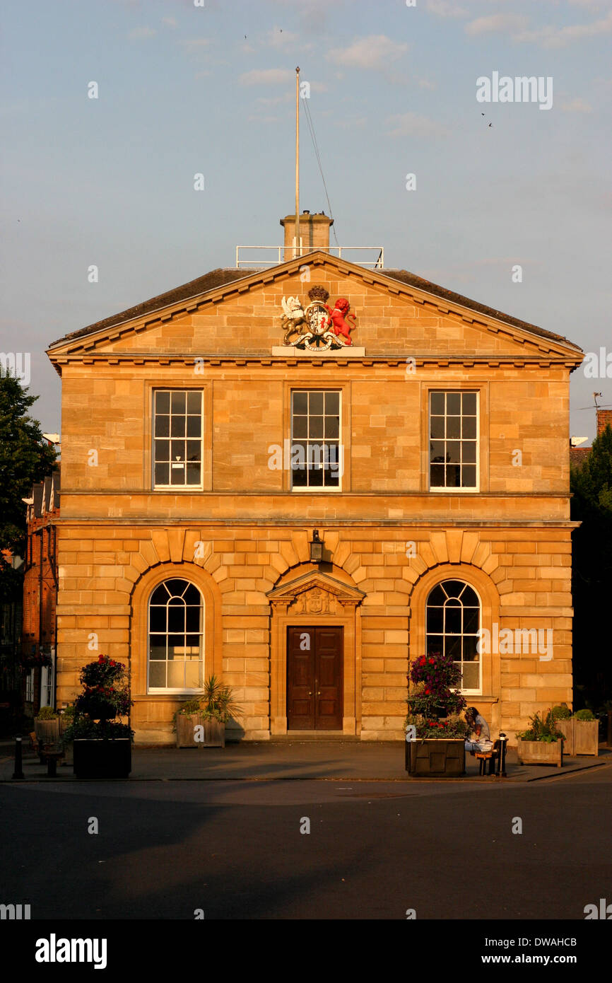 The Town Hall in Woodstock, Oxfordshire. - Stock Image