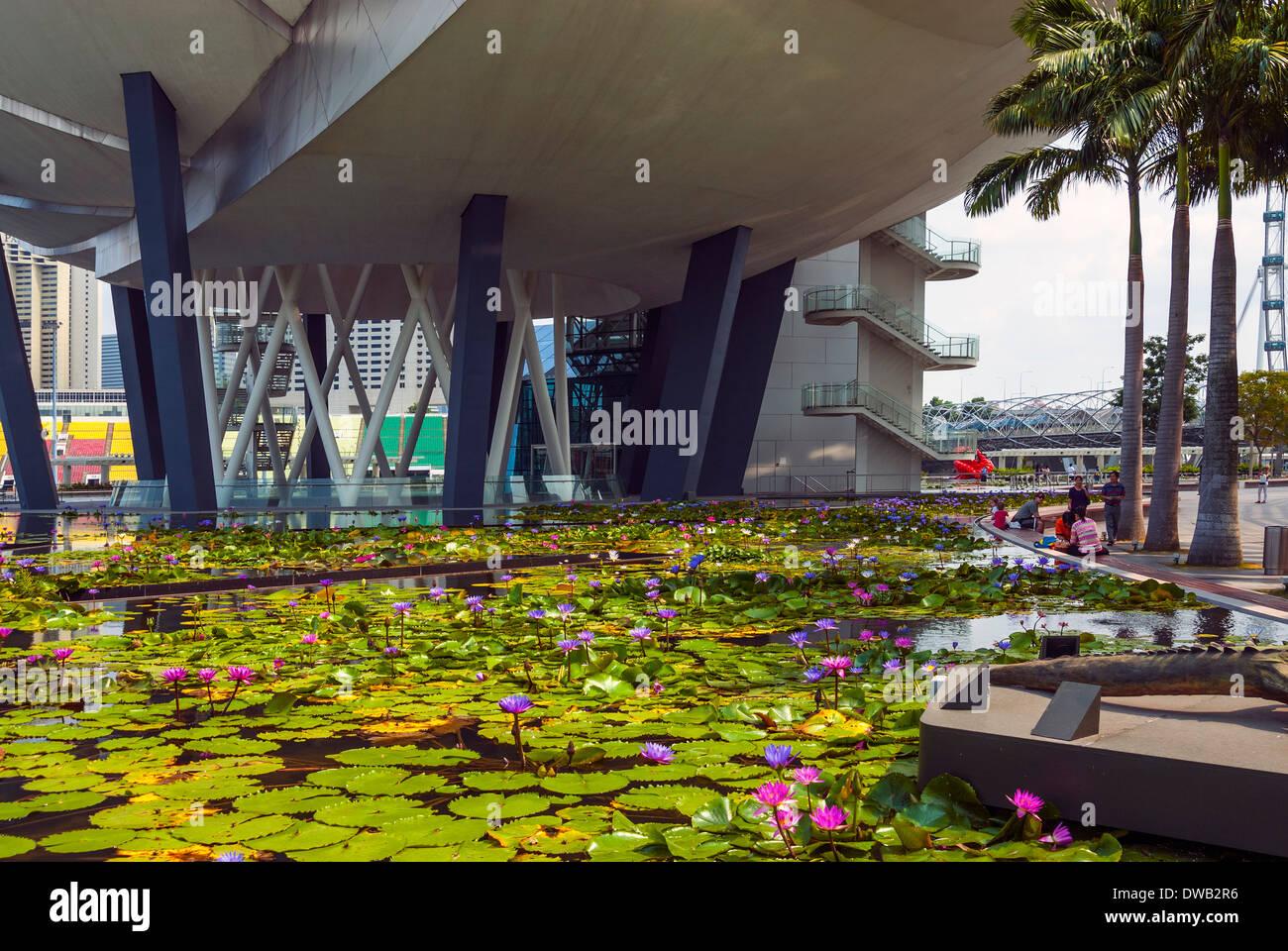 The Waterside Promenade, Marina Bay Sands, Singapore - Stock Image