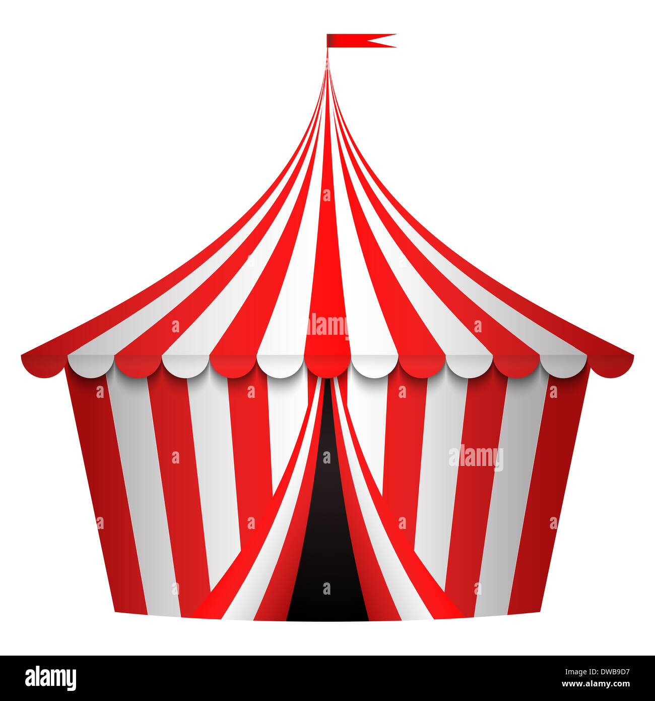 illustration of circus tent - Stock Image