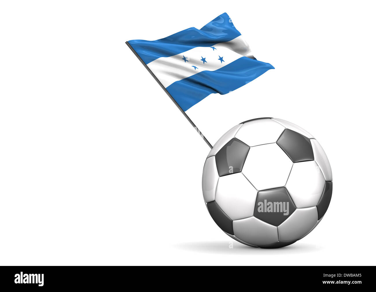 Football with flag of Honduras, 3d rendering Stock Photo