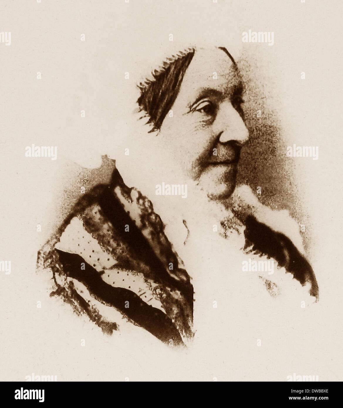 Madame Heger taken on 3rd September 1886 - Stock Image