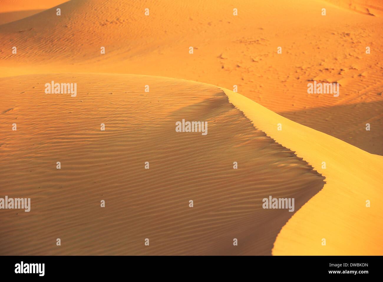 Wüste Rub al Khali - Ras al Khaima Stock Photo